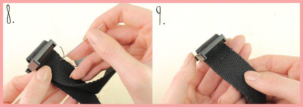 Halsband selber machen mit frau friemel - Schritt 8-9