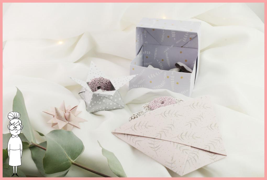 Origami Schachteln falten - Anleitung für 3 Versionen