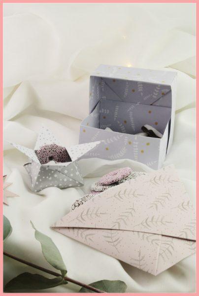 Origami Schachteln falten - DIY Anleitung für 3 Versionen
