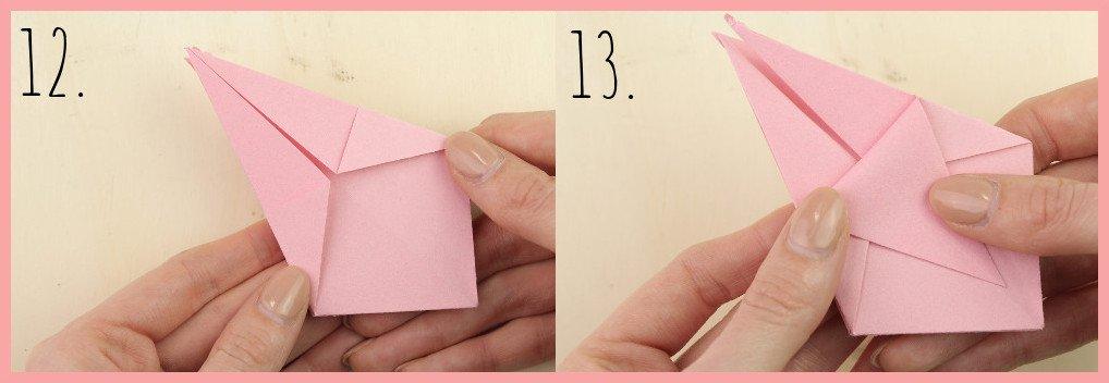 Origami Sternschachtel falten mit frau friemel - Schritt 12-13