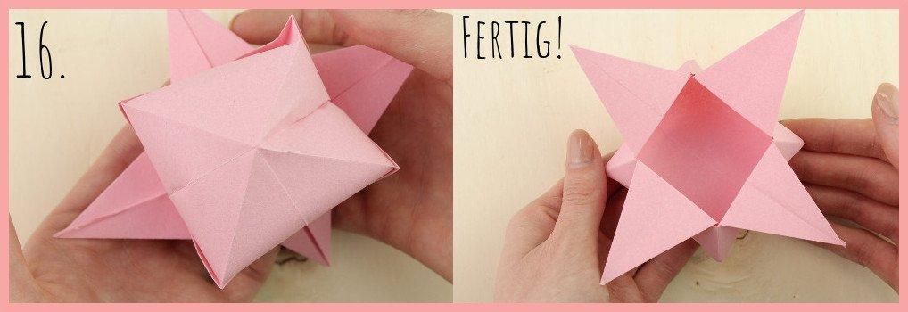 Origami Sternschachtel falten mit frau friemel - Schritt 16