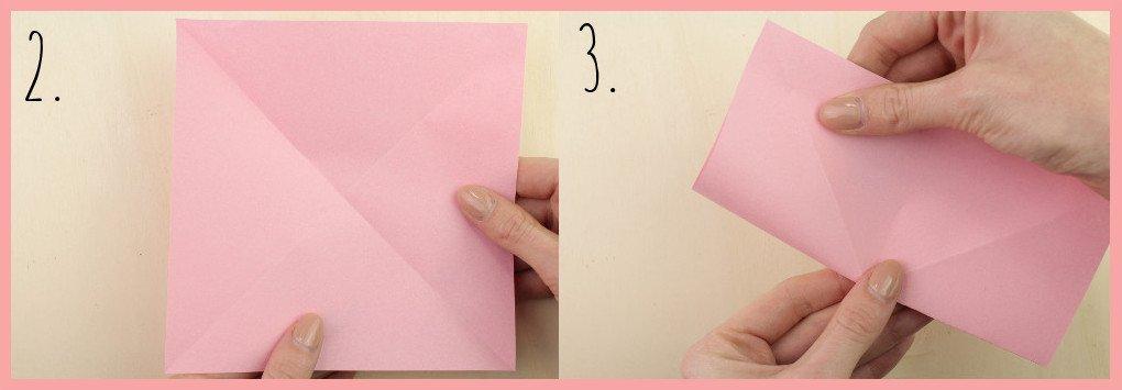 Origami Sternschachtel falten mit frau friemel - Schritt 2-3