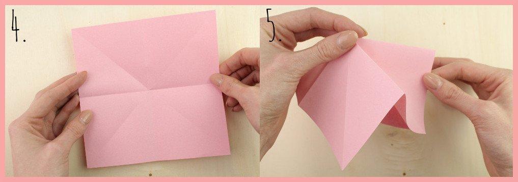 Origami Sternschachtel falten mit frau friemel - Schritt 4-5