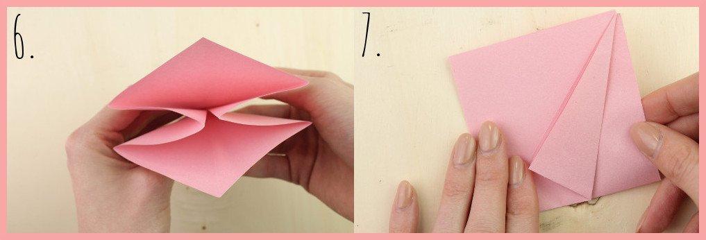 Origami Sternschachtel falten mit frau friemel - Schritt 6-7