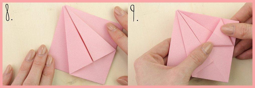 Origami Sternschachtel falten mit frau friemel - Schritt 8-9