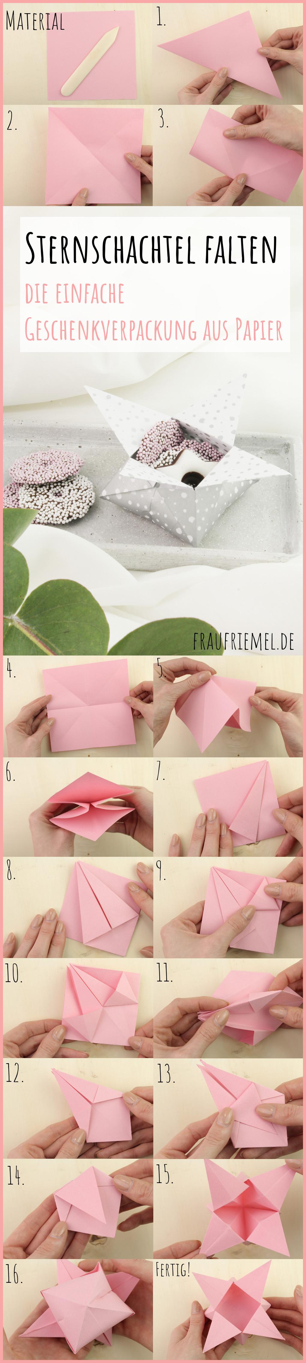 Origami Sternschachtel falten mit frau friemel
