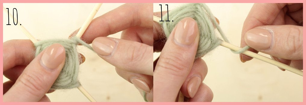 Weben ohne Webrahmen - Wanddeko selber machen mit frau friemel Schritt 10-11