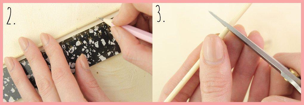 Weben ohne Webrahmen - Wanddeko selber machen mit frau friemel Schritt 2-3