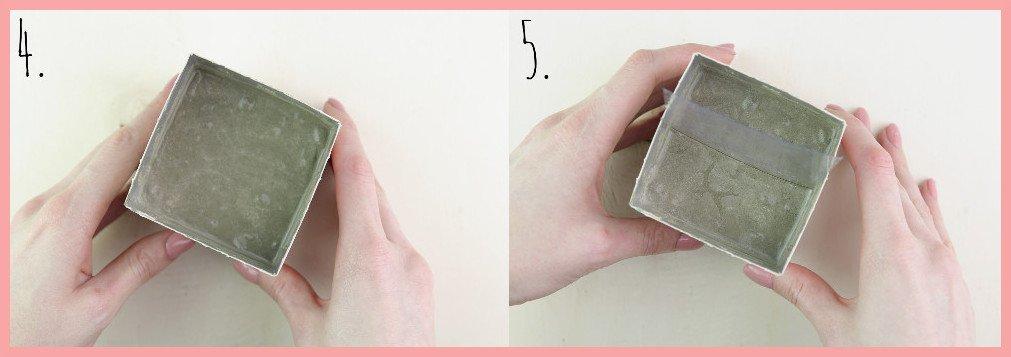 Betonfotohalter selber machen mit frau friemel Schritt 4-5