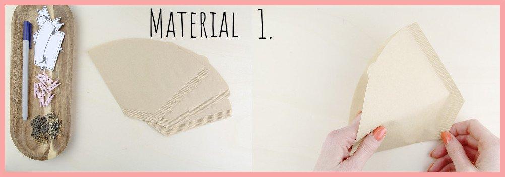 Kleines Muttertagsgeschenk selber machen - Samentüten basteln Material und Schritt 1