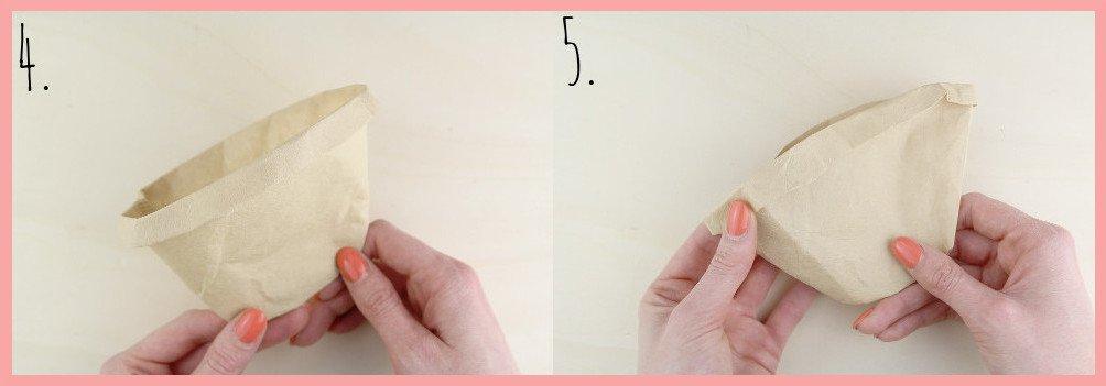Kleines Muttertagsgeschenk selber machen - Samentüten basteln Schritt 4-5
