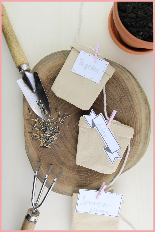 Kleines Muttertagsgeschenk selber machen - Samentüten basteln aus Kaffeefiltern