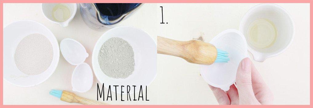 Ostereier aus Beton basteln mit frau friemel Material und Schritt 1