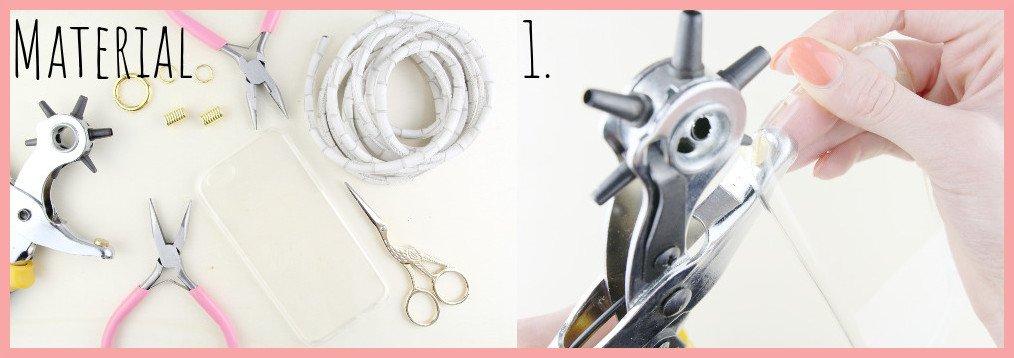 Handykette selber machen mit frau friemel Material und Schritt 1