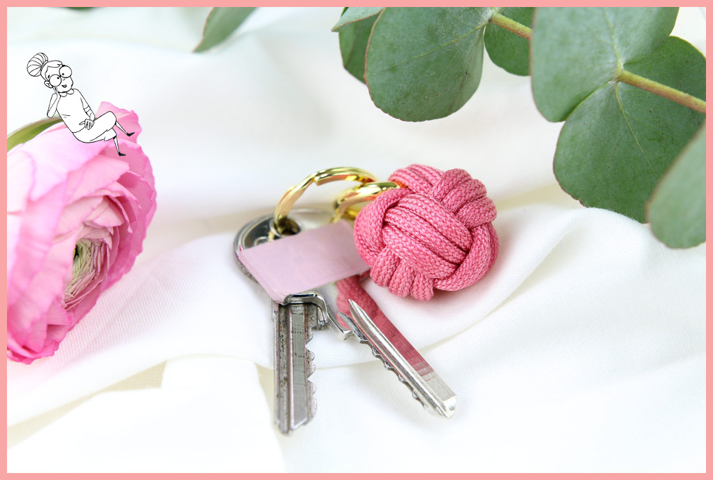 Fabulous Schlüsselanhänger knoten aus Paracord | frau friemel BE91