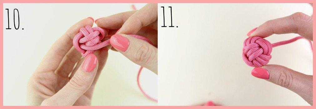 Schlüsselanhänger knoten mit frau friemel Schritt 10-11