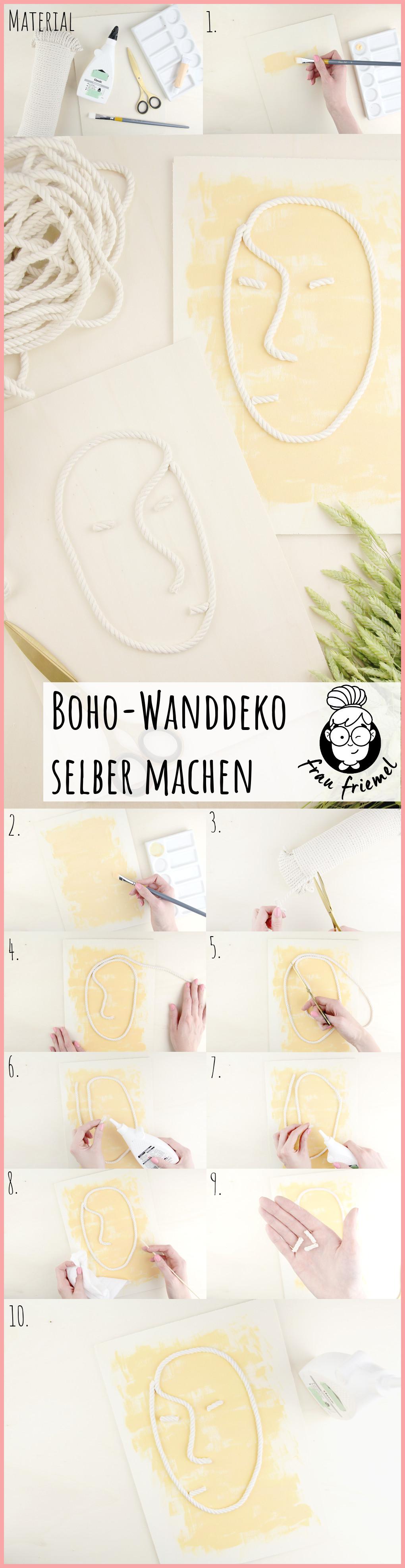Boho Wanddeko selber machen mit frau friemel - Gesamtanleitung