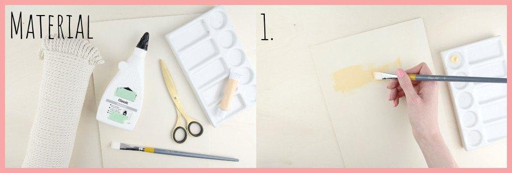 Boho Wanddeko selber machen mit frau friemel - Material u. Schritt 1