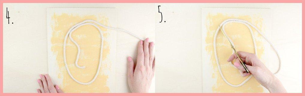 Boho Wanddeko selber machen mit frau friemel - Schritt 4-5