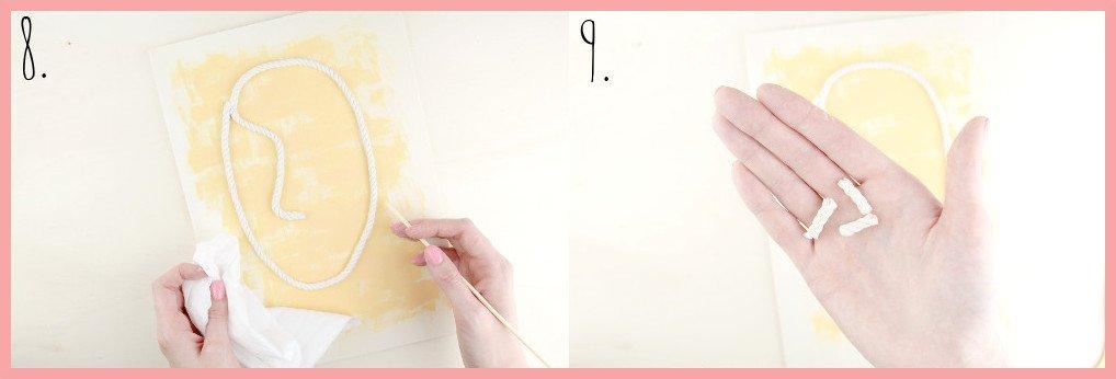 Boho Wanddeko selber machen mit frau friemel - Schritt 8-9