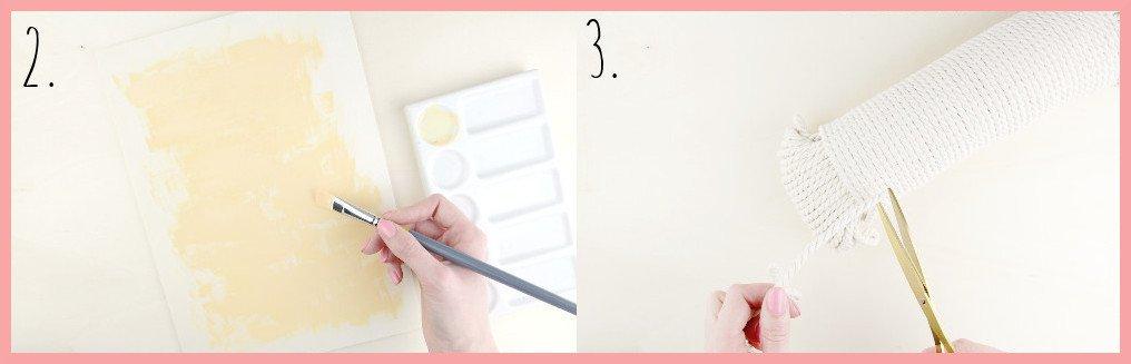 Boho Wanddeko selber machen mit frau friemel - Schritt 2-3