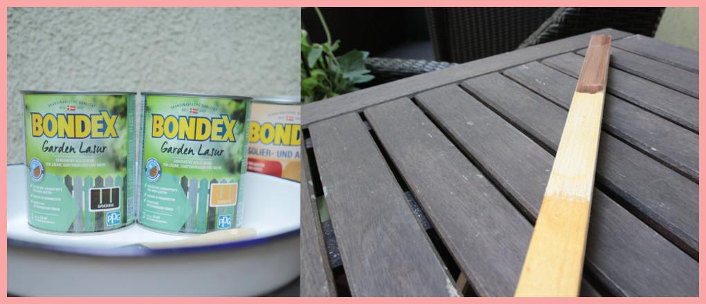 DIY Blumenkasten selber bauen mit Rankhilfe - Bondex Farbtest