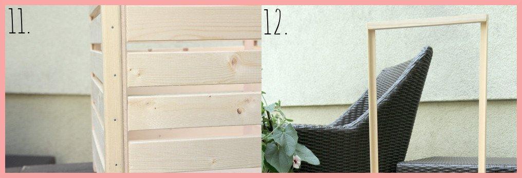 DIY Blumenkasten selber bauen mit Rankhilfe - Schritt 11-12