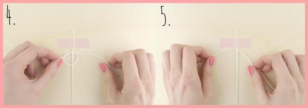 Makramee-Armband knüpfen mit Perlen mit frau friemel - Schritt 4-5