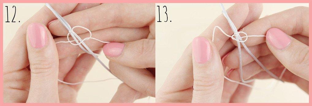 Fusskettchen selber machen mit Makramee Verschluss - Schritt 12-13