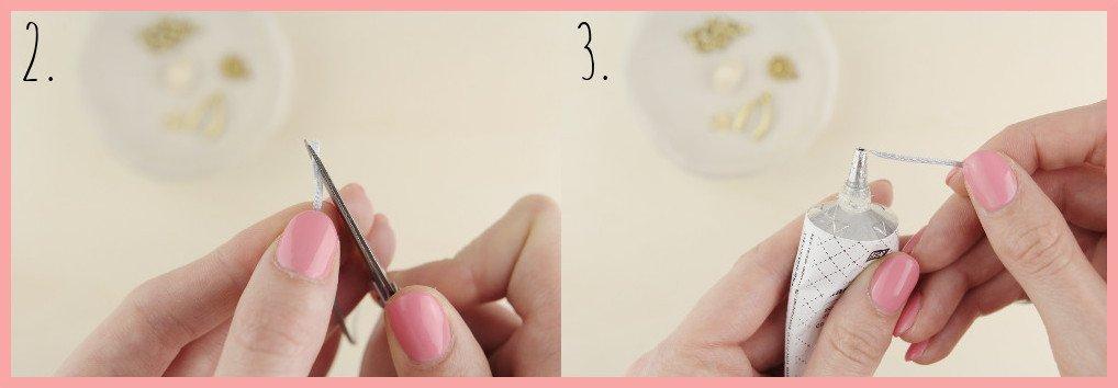 Fusskettchen selber machen mit Makramee Verschluss - Schritt 2-3 frau friemel