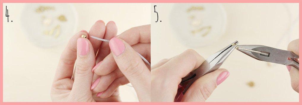 Fusskettchen selber machen mit Makramee Verschluss - Schritt 4-5 frau friemel
