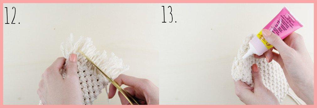 Makramee-DIY Brillenetui selber machen mit frau friemel - Schritt 12-13