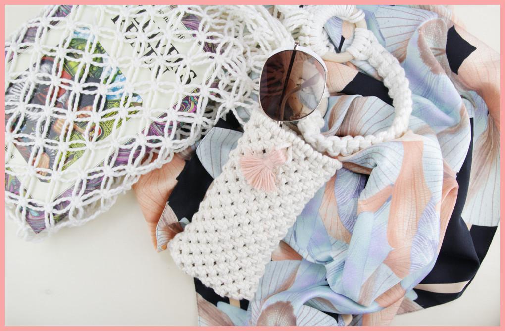 Makramee-DIY Brillenetui selber machen mit frau friemel