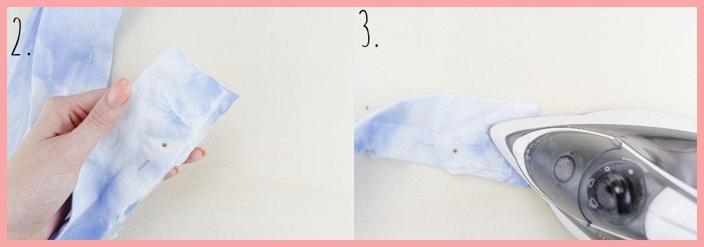 Knoten Stirnband selbermachen mit frau friemel - Schritt 2-3