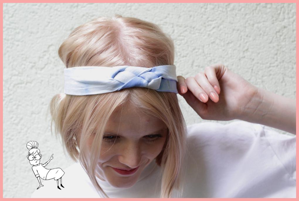 Knoten Stirnband selbermachen mit frau friemel