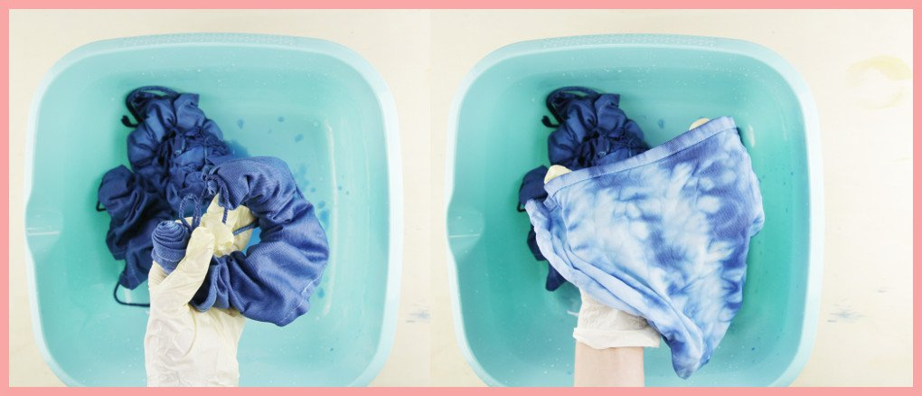 Shibori Technik lernen mit frau friemel - Päckchen auspacken