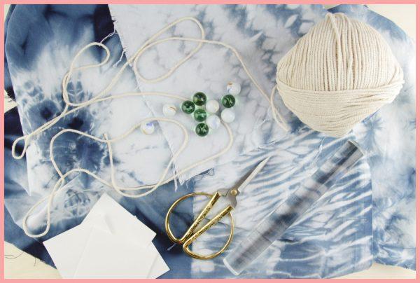 Shibori Technik lernen mit frau friemel - optionales Material
