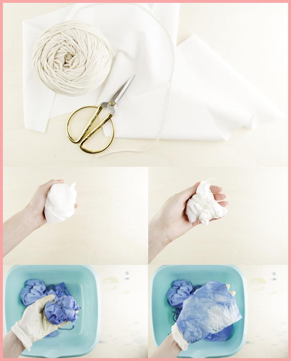 Shibori färben und Stirnband selbermachen mit frau friemel