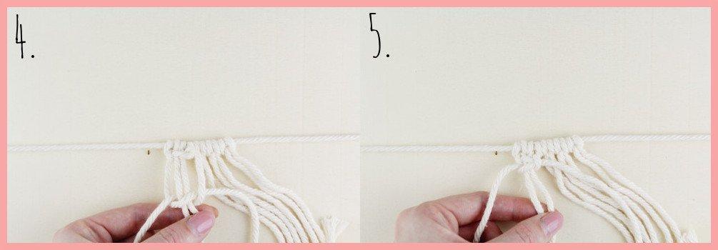 Makramee DIY Portemonnaie selber machen mit frau friemel - Schritt 4-5