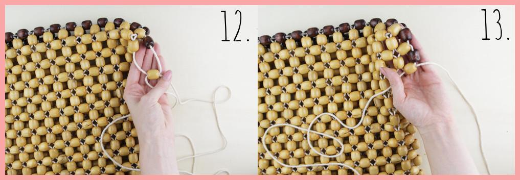 Perlentasche selber machen mit frau friemel - Schritt 12-13