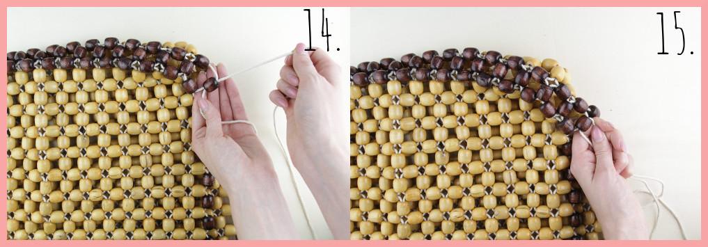 Perlentasche selber machen mit frau friemel - Schritt 14-15