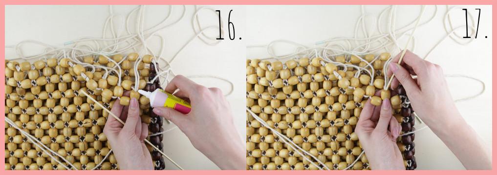 Perlentasche selber machen mit frau friemel - Schritt 16-17