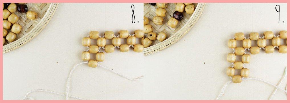 Perlentasche selber machen mit frau friemel - Schritt 8-9