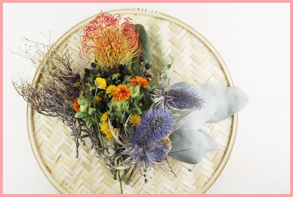 Herbstgesteck selber machen mit frau friemel - Blumen trocknen