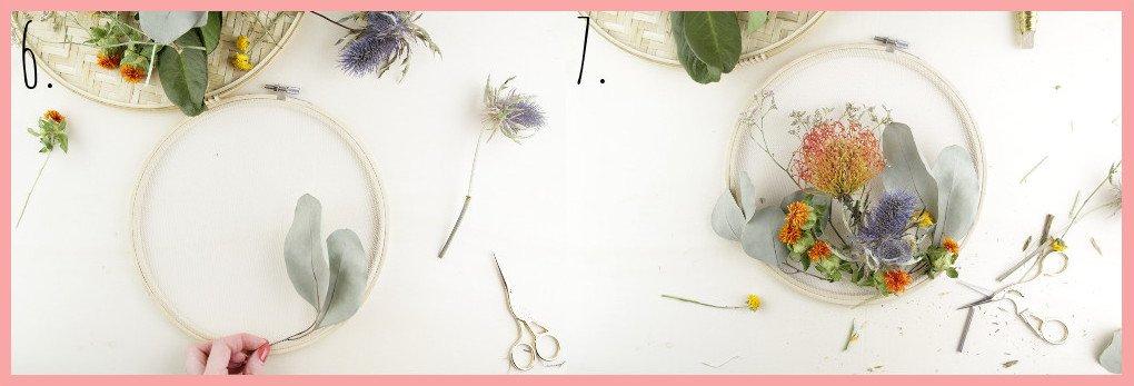 Herbstgesteck selber machen mit frau friemel - Schritt 6-7