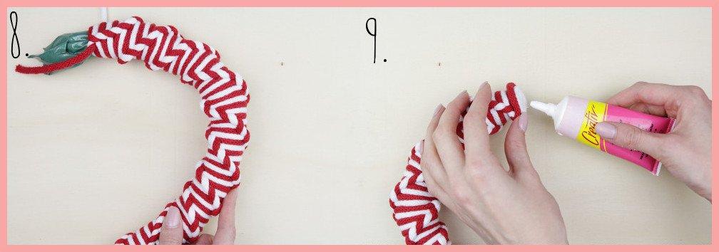Makramee Adventskalender selber machen mit frau friemel - Schritt 8-9