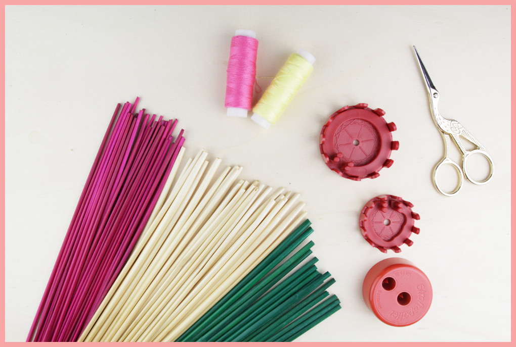 Material und Zubehör für Strohsterne