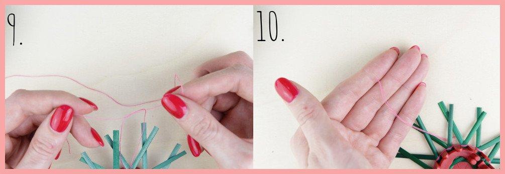 Strohsterne basteln mit flachen Stroh mit frau friemel - Schritt 9-10
