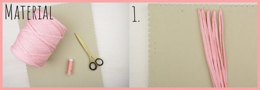 Wärmendes Haarband selber machen mit Makramee - Material und Schritt 1