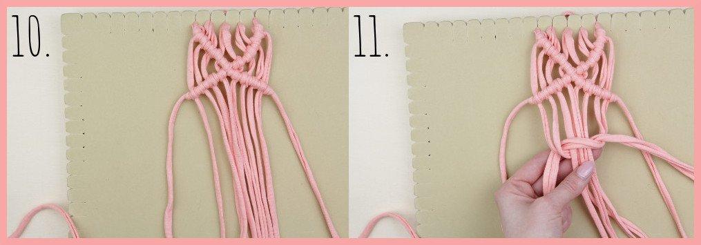 Wärmendes Haarband selber machen mit Makramee - Schritt 10-11